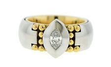 Georg Jensen Diamond Platinum/18K Yellow Gold Ring Size 5.5