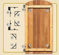 NUVO IRON GATE CORNER BRACE AND HINGE KIT GCBHK01 4 braces 2 hinge brackets