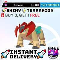 ✨Shiny Terrakion✨ Legendary Pokemon Sword and Shield 6 IV 🚀Fast Delivery🚀