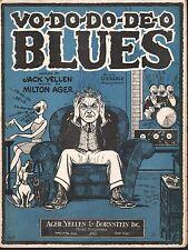 Vo Do Do De O Blues 1927 Sheet Music