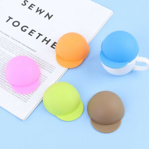 1pcsSilicone Hat Cup Lid Leakproof Tea Coffee Can Suction Lid Cute CapDustpr K^