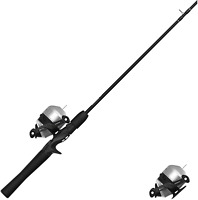 Zebco 33 Spincast Reel and 2-Piece Fishing Rod Combo, 5.5-Foot Durable Fiberglas