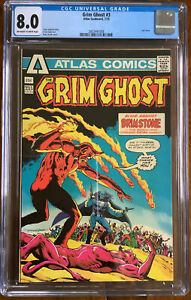 Grim Ghost #3 CGC 8.0 Atlas Comics 1975. Cool Artwork And Strong For Age.