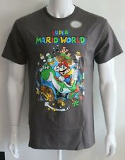 Super Mario World Mens Graphic Tees 100% Cotton Sizes S M L XL T-Shirts NWT