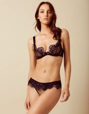 a266e6cbdb AGENT PROVOCATEUR PIPER NAVY BRA   OUVERT BRIEF SET 32C SMALL AP2 BNWT