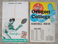 Vintage 1957 & 1958 Large Football & Basketball Cardboard Signs, Oregon, Nice!!