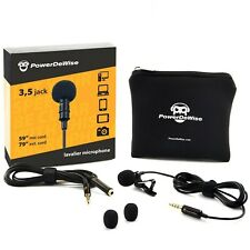 PowerDeWise Grade Lavalier Lapel Microphone, Perfect for Recording Youtube