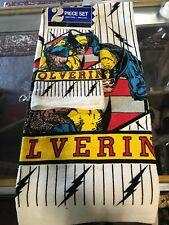 1993 Marvel Comics Tub Club Wolverine Action Figure Bath Towel Facecloth Pair