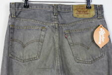 RARE Vintage Mens levis Jeans 501 Straight Button Fly FADED GREY w33 l33 80 S p8