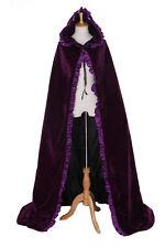 cape-02 Púrpura Violeta Terciopelo esterado Capa VESTIMENTA Edad Media GOTHIC