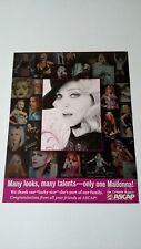 """MADONNA MANY LOOKS & TALENTS """"LUCKY STAR"""" RARE ORIGINAL PRINT PROMO POSTER AD"""