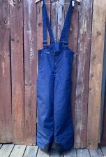 Vintage Columbia Blue Men's M Ski Suspender Bib Snow Pants