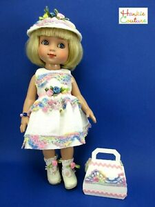 """10"""" ANN ESTELLE PATSY CROCHET DOLL DRESS BAG HAT HANKIE COUTURE TONNER CLOTHES!!"""