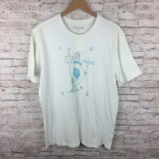 New Hurley Mens Large White Graphic Blindfolded Women Graphic T-Shirt Tee
