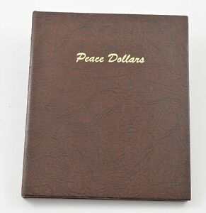 Used Dansco 1921-1935 Peace Dollars Empty Coin Album Book - 16 Oz. *607