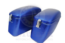 LW Hard Saddle bags Cobalt blue  fits most Vulcan VN 750 800 900 1500 1600 1700