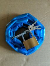 Heavy Duty Motorcycle lock plastic coated with padlock & key 1 metre long