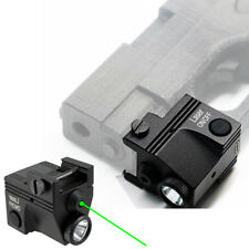 Tactical Green Laser Sight Flashlight Combo Low Profile Gun Light Rechargeable