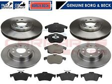 FOR VAUXHALL VECTRA 1.9 CDTi SRi 04-09 FRONT REAR BRAKE DISCS PADS BORG & BECK