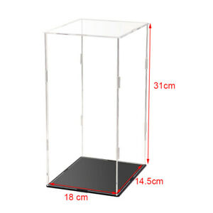 18*14.5*31cm Transparent Acrylic Display Base Dust-proof Case for Figure Model