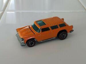 ALIVE '55 Original Hot Wheels Orange Enamel 1973 redline Nomad - NICE!
