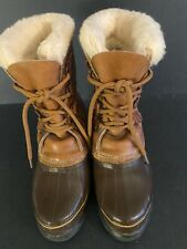Sorel Women's Alpine Leather Winter Boot Size 7 Brown made in Canada