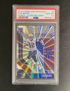 2016 Panini Unparalleled World-Class Records Tom Brady #5 PSA 10 Gem Mint POP 7