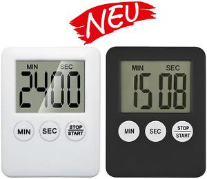Kurzzeitmesser Küchentimer Küchenwecker Stoppuhr mit Magnet Eieruhr Digital NEU
