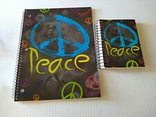 Peace Signs Notebook One Subject Fat Book 200 Sheets Creative Colors 2 Pc Set