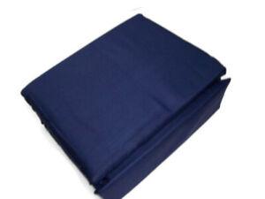 1250 Thread Count Dark Blue Wrinkle Resistant Cotton Blend King Sheet Set New