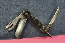 VINTAGE EX MILITARY POCKET KNIFE A.B.L.1951 BRITISH or BELIGUM ARMY/NAVY