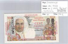 BILLET GUADELOUPE - 100 FRANCS - ND (1947) - SPECIMEN