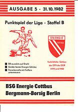 DDR-Liga 82/83  BSG Energie Cottbus - BSG Bergmann-Borsig-Berlin, 13.10.1982