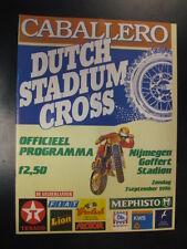 Programmaboekje Caballero Dutch Stadium Cross Goffert Nijmegen (NL) 7 sept 1986