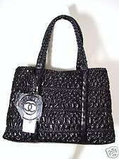 CHANEL HIDDEN CHAIN LAMBSKIN LEATHER LARGE TOTE BAG.