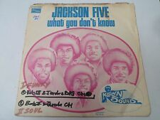 """7"""" JACKSON FIVE - What you don't know - VG+/EX - MOTOWN - 2C 008-95.999 - FRANCE"""