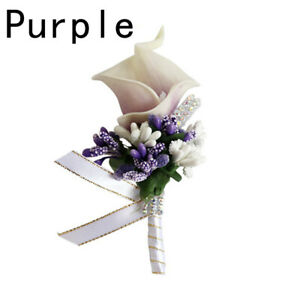 Bridal Bridesmaid Groom Artificial Flower Calla Berry Corsage Wedding Party
