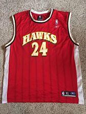 Marvin Williams NBA UNC Atlanta Hawks Jersey Reebok Size XL Red VTG