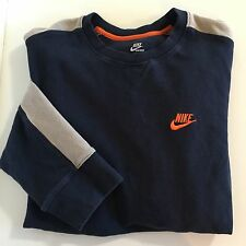 Nike Base Layer Shirt XL Blue Gray Sport Training Running Active Cold Gear