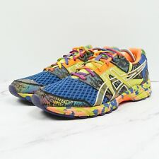 Size 11.5 Asics Gel Noosa Tri 8 Running Shoes Blue T306N Multicolor Neon