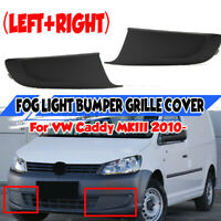 Pair Front Bumper Fog Light Grill Cover For VW Touran Caddy Touran MKII