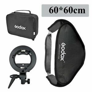 GODOX 60X60cm Faltbar Softbox + Bowens Blitzhalter + Tragetasche