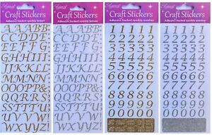 15mm Glitter Script Letters or Numbers - Alphabet Gold or Silver 1.5cm Tall