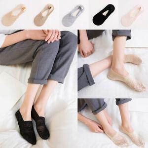 1pair Women No-Show Lace Socks Ladies Invisible Anti-Skid Non-Slip Boat Sock
