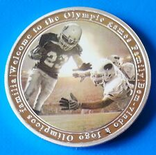Rugby Football 2016 Brazil Rio Olympic Games Map Commemorative unusual coinage