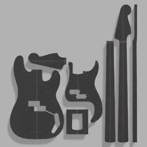 "Fender Precision Bass '57 Bass Template 0.50"" MDF"
