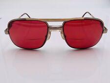 Vintage Kenmark Gallery Brown Gold Metal Aviator Sunglasses Frames Only
