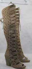 Tono de piel 4 Tacón Alto en bloque Punta Abierta Sexy Gladiador ENCAJE