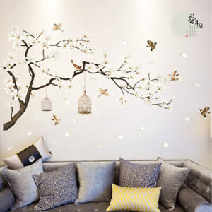 Flower Tree Wall Stickers 3D Vinyl Art Decals Home Room Decoration Decor Kids LH