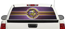 Minnesota Vikings NFL rear window perforated vinyl graphics Decal Truck
